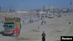 چمن کے مقام پر واقع پاک افغان سرحدی گزرگاہ کا منظر (فائل فوٹو)