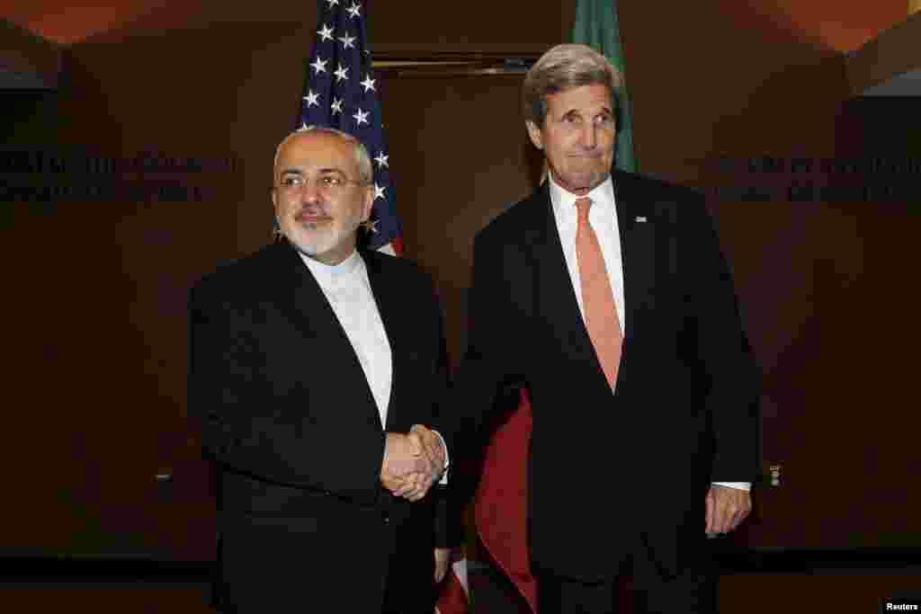 جان کری و محمدجواد ظریف گفتند قصد پاسخ به خبرنگاران را ندارند.