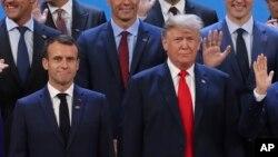 Donald Trump et Emmanuel Macron au G-20 à Buenos Aires en Argentine, le 30 novembre 2018.