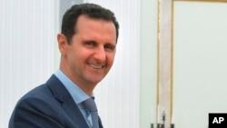 Le président syrien Bachar al-Assad lors d'une visite à Moscou, le 20 octobre 2015
