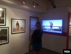 莫斯科最近举行了介绍朝鲜的图片展览。