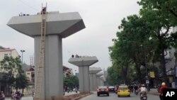 越南河内的地铁工程(2013年4月7日)