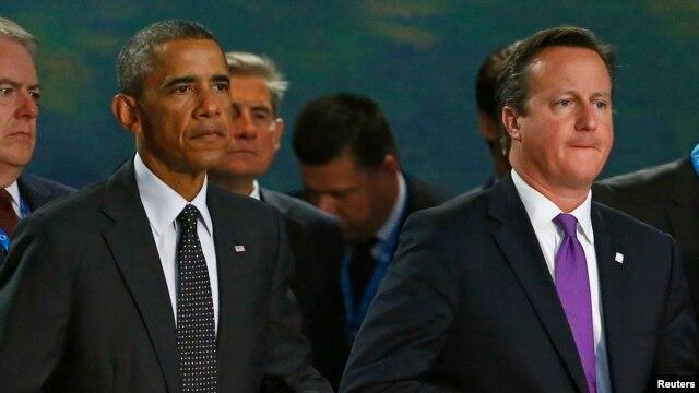 Tổng thống Mỹ Barack Obama và Thủ tướng Anh David Cameron.