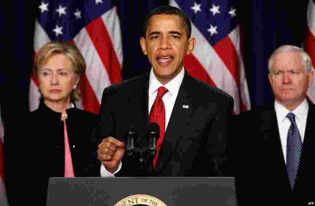 Президент Обама объявляет новую стратегию США в Афганистане. 27 марта 2009 года