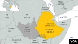 埃塞俄比亞地理位置圖