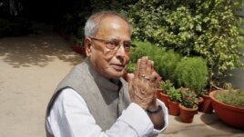 FILE - Indian President Pranab Mukherjee