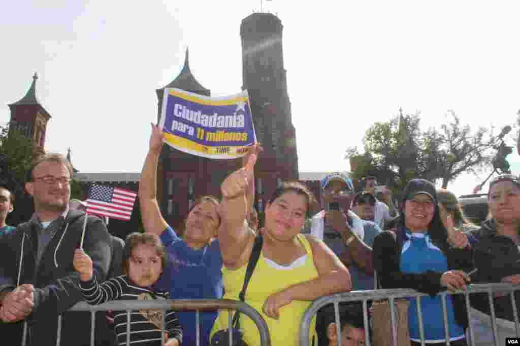 La fe y esperanza todavía está presente en los rostros de los miles de indocumentados que participaron de la marcha por la reforma del sistema de inmigración.