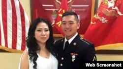 Cô Dolly Khuu (trái) và em trai. Ảnh chụp màn hình trang web wtkr.com