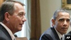 13일 의회 지도부와 만남을 가진 오바마 미국 대통령
