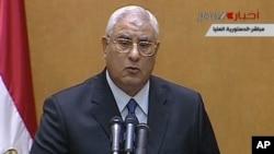 Presidenti i përkohshëm Adly Mansour