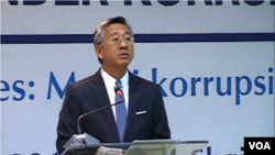 US ambassador in Albania Donald Lu, speaking in a conference about corruption