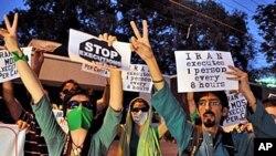 伊朗反对派集会,支持突尼斯和埃及人民起义