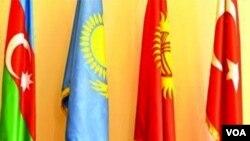 Türkdilli dövlətlərin əməkdaşlıq şurasına üzv dövlətlərin bayraqları