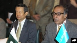 معاہدے پر دستخط کی تقریب میں شریک وفاقی وزیرصحت اور جاپانی سفیر