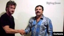 El Chapo et Sean Penn lors d'une interview au Mexique pendant la cavale du narcotrafiquant.