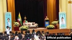 ႏိုင္ငံေတာ္အတုိင္ပင္ခံပုဂၢိဳလ္ ေဒၚေအာင္ဆန္းစုၾကည္ ၾသစေၾတးလ်ေရာက္ျမန္မာေတြနဲ႔ ေတြ႔ဆံု(သတင္းဓာတ္ပံု-Myanmar State Counsellor Office)