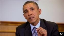 Президент Обама розмовляє з представниками ЗМІ про ситуацію в Україні