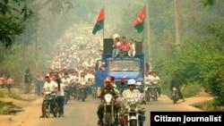 ကခ်င္မူးယစ္ေဆးဝါးဆန္႔က်င္ေရးအခမ္းအနား တက္ေရာက္လာသူ ျပည္သူမ်ား -Photo Credit to Lachid Kachin