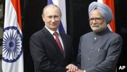 Владимир Путин и Манмохан Сингх.