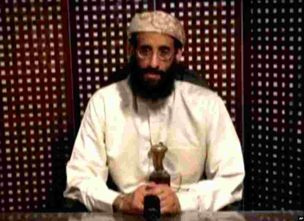 Anwar al-Awlaki, a U.S.-born cleric linked to al Qaeda's Yemen-based wing, gives a religious lecture in this still image taken from video. Anwar al-Awlaki has been killed, Yemen's Defence Ministry said on Friday. REUTERS/Intelwire.com