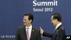 Thủ tướng Việt Nam Nguyễn Tấn Dũng tại Hội nghị thượng đỉnh về an ninh hạt nhân ở Seoul, ngày 26/3/2012