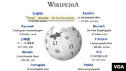 Une copie d'écran du site Wikipédia