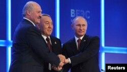 Belarus, Qozog'iston va Rossiya davlat rahbarlari Ostonada o'tgan Yevrosiyo iqtisodiy ittifoqi forumida, 29-may, 2014-yil