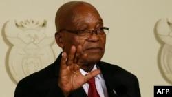 Le président de l'Afrique du Sud, Jacob Zuma, s'adresse à la Nation à Pretoria le 14 février 2018.