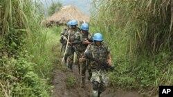 Wanajeshi wa Umoja wa Mataifa wakiwa katika doria ndani ya DRC