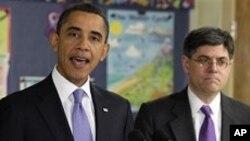 2012년 회계연도 예산안을 발표하는 바락 오바마 미 대통령