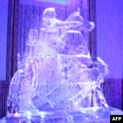 Ледяная скульптура Петра Первого