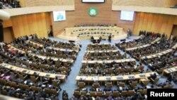 Sala plenária da sede da União Africana, em Adis Abeba