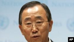 聯合國秘書長潘基文要求卡扎菲停止暴力鎮壓