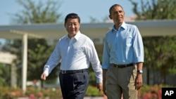 美國總統奧巴馬 (右) 與中國國家主席習近平 (左)