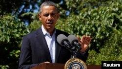 Obama reclamó a los manifestantes que se expresen en forma pacífica.