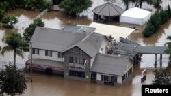 澳大利亞新南威爾士發生洪災的地區
