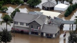 Nước lụt làm ngập một khu vực ở Bắc Wagga, phía tây nam Sydney.