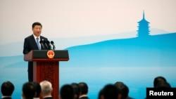中国国家主席习近平在G20峰会上讲话
