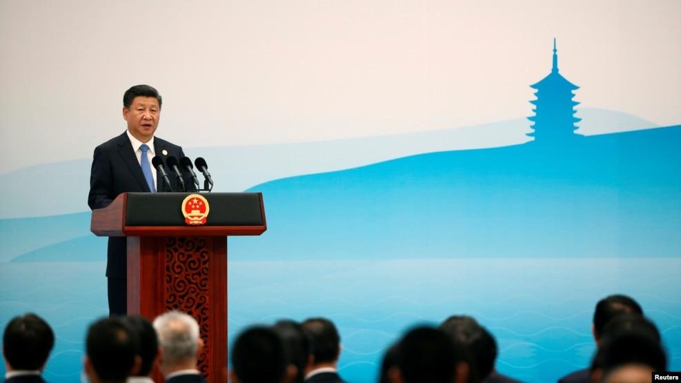 中國國家主席習近平在G20峰會上講話