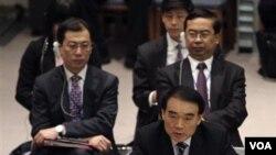 Dubes Tiongkok untuk PBB Li Baodong menjelaskan sikap Tiongkok untuk memveto resolusi DK PBB atas Suriah (4/2).
