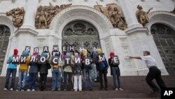 Пикет у храма Христа Спасителя. Москва, 15 августа 2012г.