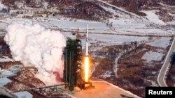 朝鲜去年12月发射火箭视频截图