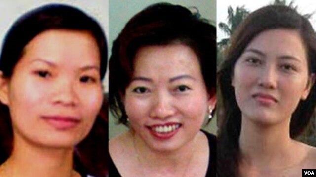 Từ trái: Phạm Thanh Nghiên, Tạ Phong Tần và Huỳnh Thục Vy