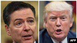 TT Donald Trump (phải) và Cựu Giám Đốc FBI James Comey