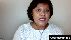 Peneliti Balai Litbangkes Papua, Hana Krismawati (Sumber: Lapor COVID-19/tangkapan layar)