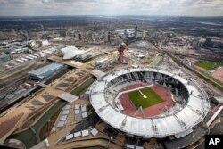 Londondagi Olimpiya parki, 16-aprel, 2012-yil.