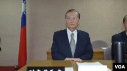 台湾海巡署署长王进旺,(美国之音申华拍摄)