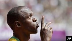 Vận động viên Usain Bolt của Jamaica