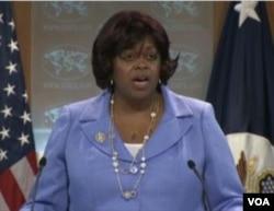 美国国务院主管国际宗教自由的无任所大使苏珊·库克 (美国之音视频截图)
