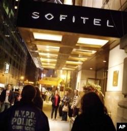 事發地點紐約索菲特酒店
